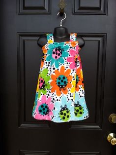 Cute pattern for little girl bath wraps/cover up