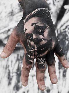 Insane Joker Tattoo Designs and Ideas - Tattoo Me Now Tattoo Life, Big Tattoo, Tattoo Art, Hand Tattoos, Sleeve Tattoos, Cool Tattoos, Joker Tattoos, Tattoo Studio, Magic Tattoo