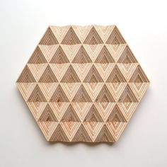 Salvamanteles con grabado en 3D madera- Diamantes de ObjectsbyMedio en Etsy