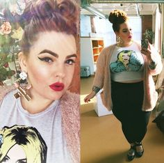 Tess Holliday looking all kinds of cute n stuff!