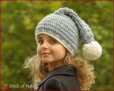 bc21b705e8e Crochet PATTERN - The Polaris Stocking Hat with a Pom-pom