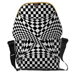 Twisted Checkers Messenger Bag #Zazzle