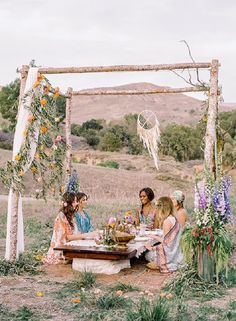 Bohemian bridal shower The Dreamiest Boho Bridal Shower - A Fun + romantic Bohemian inspiration outdoors in the middle of nature,boho chic bridal shower