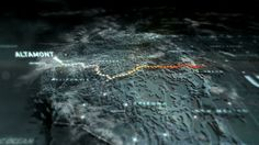 NFS The Run by Vincent. Main title animation & core route map design/animation.  Early concept work for weather transitions at location stages.