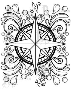 The Witch's Moon Embroidery Pattern by Meg Hawkey From Crabapple Hill Studio - Embroidery Design Guide Adult Coloring Book Pages, Printable Adult Coloring Pages, Free Adult Coloring, Colouring Pages, Coloring Books, Coloring Pages Mandala, Geometric Coloring Pages, Pattern Coloring Pages, Mandala Design