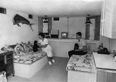 fallout shelter | in their multiple-use fallout shelter. The interior of the shelter ...