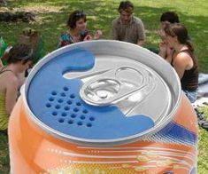 Keep nasty insects and critters away from your tasty beverage with the soda can bug screen.