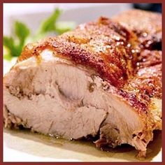 Puerto Rican Roasted Pork Pernil. A roasted pork (usually pork shoulder) seasoned in adobo mojado. Adobo mojado usually consists of crushed garlic, olive oil, salt, black pepper, dry/fresh orégano brujo, citrus juice or vinegar (or both citrus and vinegar)