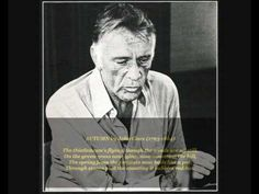 """Richard Burton reads John Clare's poem 'Autumn'..... """"whoever looks round sees eternity there""""....."""