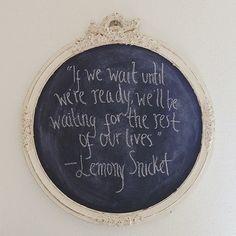 If we wait until we're ready..