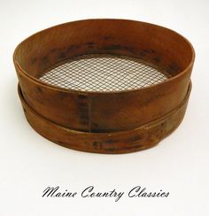 Antique Wooden Primitive Farm Barn Wood & Wire Mesh Bentwood Grain Sifter Sieve #Country #Unknown