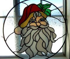 santa stained glass - Google Search