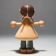 design Kay Franck Antique Toys, Vintage Toys, Scandinavian Toys, Wooden Dolls, Soft Dolls, Woodturning, Wood And Metal, Doll Toys, Metallica