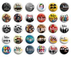 The Beatles Theme Party favor pins buttons badges 30 pcs
