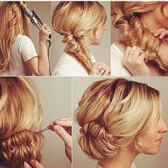 Fishtail braided upstyle
