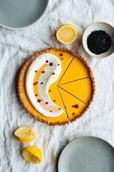 Lemon Earl Grey Tart with Buttermilk Chantilly