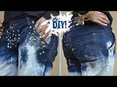 ▶ DIY: Customizando Calça Jeans - Inspiração Calvin Klein - YouTube