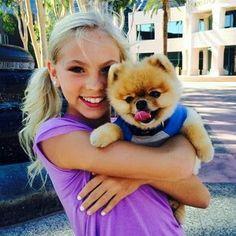Jordyn jones and pretty dog