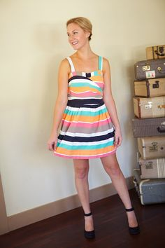 Palindrome Dry Goods: Handmade Cynthia Rowley 2250 in Vintage Stripe