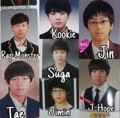 Looking all cute and stuff, then puberty hit them really hard. And then there's Jungook :3