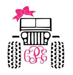 Girly Jeep Decal