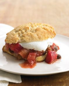 Rhubarb Compote - Martha Stewart Recipes.  Like the mixture they serve in the Rhubarb Shortcake at Butcher & the Boar?