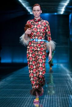 Miuccia Prada, in a nod to see-now/buy-now fashion, offers accessories for sale right after her spring show.