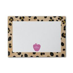 Pink Apple Leopard Print Teacher Post-it Notes from The Pink Schoolhouse