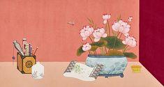 HANA SEO painting & illustration Japanese Art Styles, Illustration Art, Illustrations, Korean Art, Chinese Style, Hana, Cute Art, Oriental, Arts And Crafts