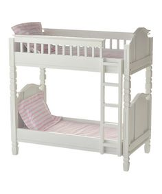 Loving this White Doll Bunk Bed for 18'' Dolls on #zulily! #zulilyfinds