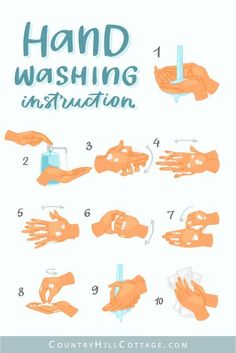 How To Wash Your Hands with Soap and Water - Hand hygiene and hand washing instruction poster. Wash your hands regularly with soap and water to s - Water Activities, Preschool Activities, Hand Washing Poster, Antibacterial Soap, Hand Hygiene, Kindergarten Lessons, Body Soap, Kids Health, Children Health