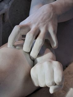 Detail: The Rebel Angels. Salvatore Albano , Italian, (marble)1841-1893 Brooklyn museum of Art. NYC