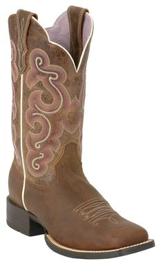 Ariat® Ladies Bad Lands Brown Quickdraw Square Toe Western Boot | Cavender's  | I want these so bad!