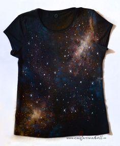 Camiseta galaxia, estrellas, astronomia, Galaxy shirt, t shirt www.creativa4all.es Creativa4all