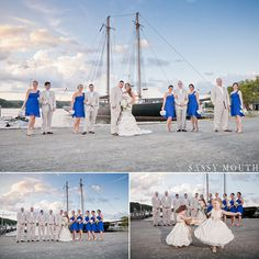 Seaside Wedding Inspiration Nautical Mystic Seaport Wedding - Sassy Mouth - Jennifer and Mike - CT