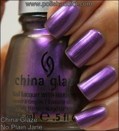 China Glaze No Plain Jane - swatched on nail wheel - BLACK CAP - $4.00 - SOLD