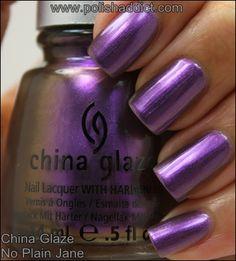 China Glaze No Plain Jane - swatched on nail wheel - BLACK CAP - $4.00 - SOLD