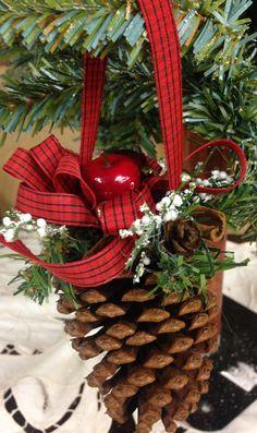 Pinecone Ornament Pine cone Ornament Christmas Ornament