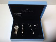 Bella & Rose Watch, Bracelet, Necklace and Earrings Set #BellaRose