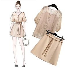 Quần áo Korea Fashion, Asian Fashion, Daily Fashion, Girl Fashion, Fashion Dresses, Womens Fashion, Dress Illustration, Dress Sketches, Fashion Design Sketches