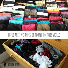 Two types of people in the world - tidy drawers and...