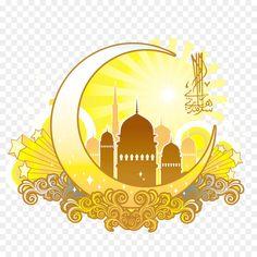 Eid al-Fitr Eid Mubarak Ramadan Greeting card Muslim - Yellow moon shaped Islamic religious designs Islamic Art Pattern, Pattern Art, Poster Ramadhan, Wallpaper Ramadhan, Mubarak Ramadan, Islamic Posters, Ramadan Greetings, Yellow Moon, Ganesha Painting