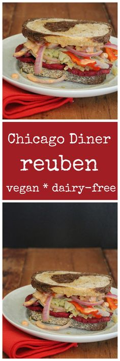 Radical reuben sandwich: The world-famous vegan reuben from Chicago Diner. Get the recipe + a review of the Chicago Diner cookbook. Vegan. | cadryskitchen.com