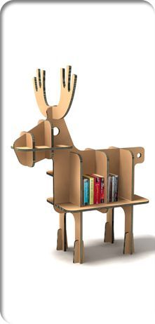 cardboard animal book shelf - Google Search