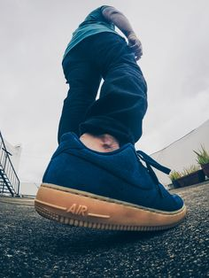Nike Air Force 1 Suede Gum #hypebeast #hypefeet #AirForce1 #complexsneakers #joggers #selvedgedenims