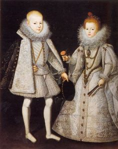 Infante Don Carlos of Austria and Infanta Doña María Ana of Austria, son and daughter of Phillip III of Spain.