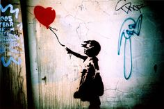 Banksy love by Maya Newman, via Flickr
