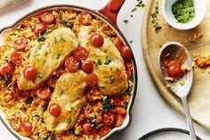 Zesty chicken and rice skillet recipe chicken recipes pinter Chicken Rice Skillet, Chicken Skillet Recipes, Skillet Meals, Supper Recipes, Easy Dinner Recipes, Campbells Soup Recipes, Easy Healthy Dinners, Easy Dinners, How To Cook Chicken