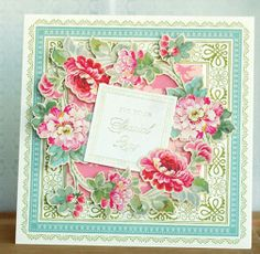 Card made from 6x6 papers Anna Griffin will launch  on HSN on the 24th!