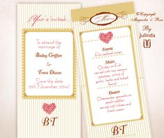 From the 'Red Delicious' couture collection. Wedding Invitations, RSVP, Map/Directions, Menus, Table and Favour/Decor Swing Tags.  | © Julinda at Magnolia & Rose Weddings. For best representation of the high print quality please click on the photo to view the website